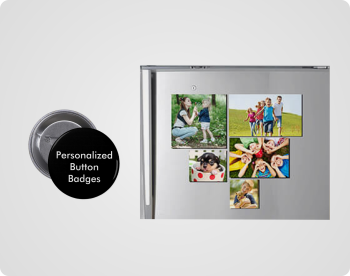 Personalised Button Badges, Magnets